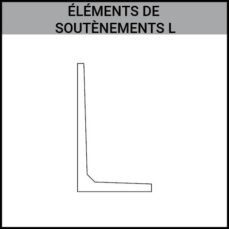 element de soutenement, L, prefabrique, beton, Gouvy Houffalize Bastogne Saint-Vith Clervaux Luxembourg