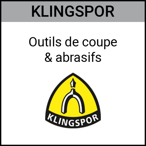 Klingspor, outils, coupe, abrasifs, Gouvy Houffalize Bastogne Saint-Vith Clervaux Luxembourg