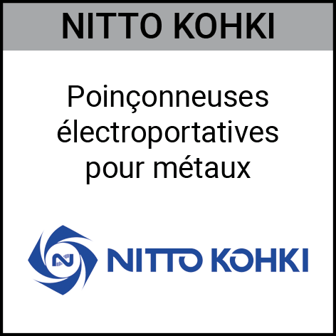 nitto kohki, poinçonneuse, electroportatif, métaux, Gouvy Houffalize Bastogne Saint-Vith Clervaux Luxembourg